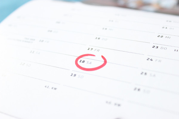 Fruitful calendar of events